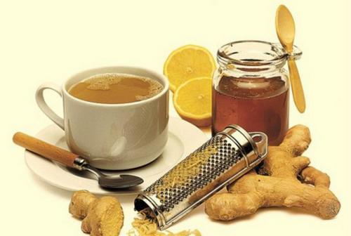 Имбирь, черный чай, мед