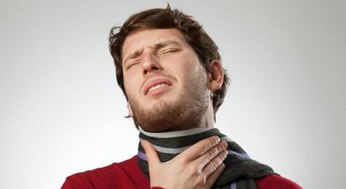 ангина с больным горлом