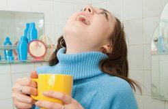 Чем можно полоскать горло при ангине  у детей и взрослых