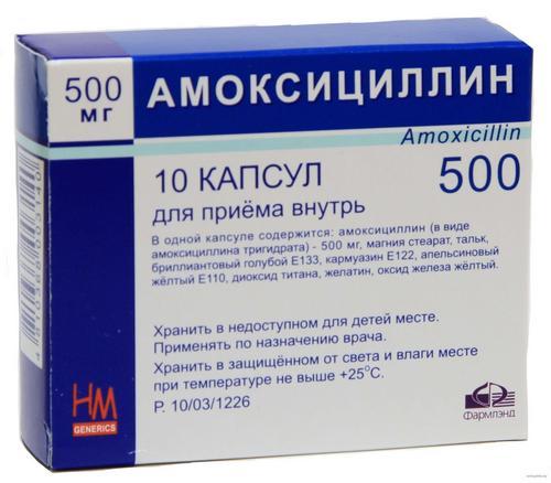Амоксициллин при ангине: инструкция по применению