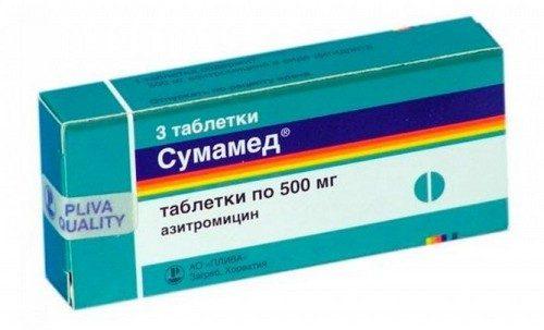 таблетки Сумамед при ангине