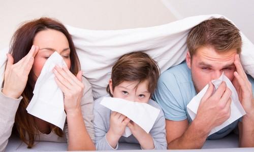 грипп в семье