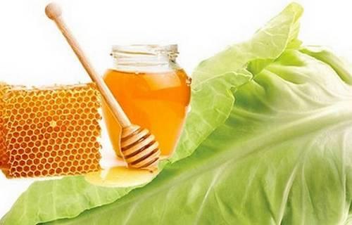 Капустный лист с мёдом