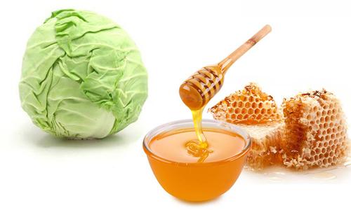 Капустный листья с мёдом